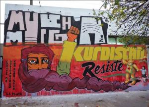 Argentina – Murale di solidarietà con la lotta kurda